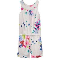 Joules Girls Floral Playsuit, Floral, Size Age: 4 Years, Women