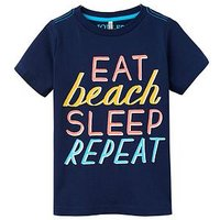 Boys, Joules Ss Print Tee, Navy, Size 5-6 Years
