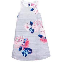Joules Girls Woven Floral Dress, Multi, Size 4 Years, Women
