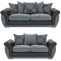 Product photograph showing Danube 3-seater 2-seater Sofa Set Buy And Save