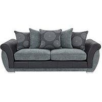 Product photograph showing Danube 3-seater Sofa