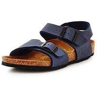 Birkenstock New York Sandal, Navy, Size 7 Younger