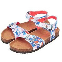Joules JOULES JUNIOR GIRLS TIPPYTOES DITSY FLORAL SANDAL, Floral, Size 5 Younger