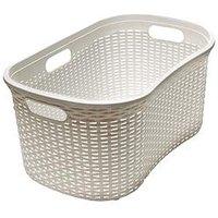 Addis Faux Rattan 40-Litre Hipster Laundry Basket