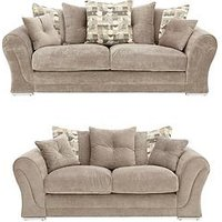 Elliot 3-Seater + 2-Seater Fabric Sofa Set (Buy And Save!)