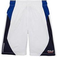 Boys, Ralph Lauren Poly Shorts, White, Size 6 Years