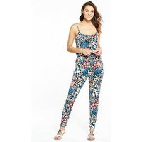V by Very Tall Cami Strap Jumpsuit, Floral Print, Size 22, Women