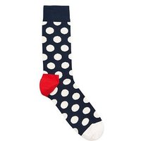 HAPPY SOCKS Big Dot socks, Navy/White, Size 7.5-11.5, Men