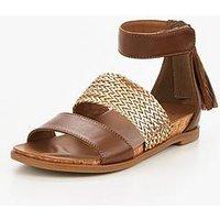 UGG Marabel Metallic Sandal, Chestnut, Size 2 Older