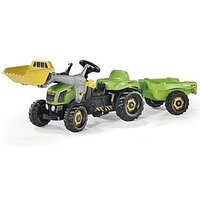 Rolly Toys Green Tractor With Front Loader / Trailer, One Colour