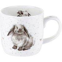 Product photograph showing Royal Worcester Wrendale Rosie Rabbit Mug By Royal Worcester - Single Mug