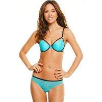 Myleene Klass Lace Strapping Bra - Teal, Teal, Size 34D, Women