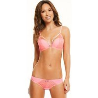 Myleene Klass Animal Embroidered High Apex 1/2 Pad Bra - Coral, Coral, Size 32D, Women