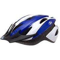 Ford Style Mens Cycle Helmet 54-58cm White/Blue, White/Blue, Men