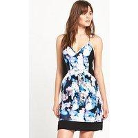 Calvin Klein DAVINA DRESS, Irridescent Floral, Size M, Women
