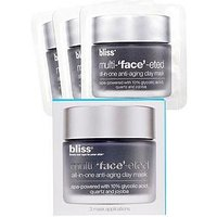 BLISS Multi-'face'-eted Clay Mask (Box of 3 x 4g), One Colour, Women