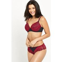 Pour Moi Pour Moi Fever Underwired Non Pad Bra (30-36), Red/Black, Size 32G, Women