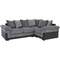 Product photograph showing Phoenix Right Hand Double Arm Corner Group Sofa