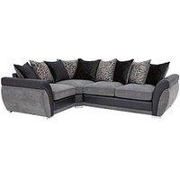 Product photograph showing Hilton Left-hand Double Arm Corner Group Sofa