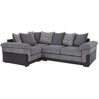 Product photograph showing Phoenix Left Hand Double Arm Corner Group Sofa