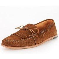 Hudson London Manuel Suede Loafer, Tobacco, Size 10, Men