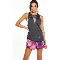 Nike Zonal Relay Tank, Anthracite, Size L, Women