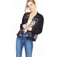 V By Very Petite Petite Printed Woven Bomber