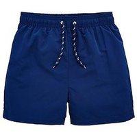 V by Very Boys 2 Pack Basic Swim Shorts, Navy, Size Age: 14-15 Years