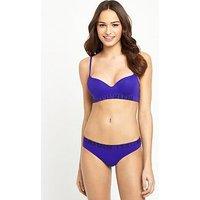 Calvin Klein Seamless Logo Lightly Lined Demi Multiway Bra - Purple, Purple, Size 36D, Women