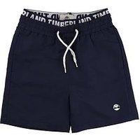 Boys, Timberland Logo Waist Swimshort, Navy, Size Age: 5 Years