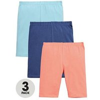 Mini V by Very Toddler Girls Cycling Shorts (3 Pack), Multi, Size Age: 3-6 Months, Women