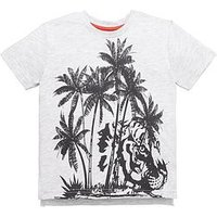 Mini V by Very Toddler Boys Palm Print Tee, Black/White, Size Age: 6-9 Months