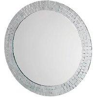 Croydex Meadley Circular Mirror With Mosaic Surround