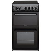 Hotpoint Newstyle Hae51Ks 50Cm Twin Cavity Electric Cooker - Black