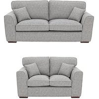 Rio 3-Seater + 2-Seater Standard Back Fabric Sofa Set (Buy And Save!)
