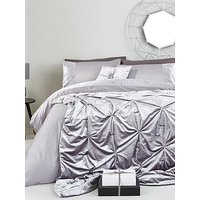 Product photograph showing Amelie Crushed Velvet Bedspread Throw