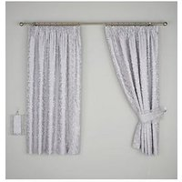 Patience Jacquard Lined Pencil Pleat Curtains