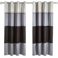Panel Stripe Lined Eyelet Curtains