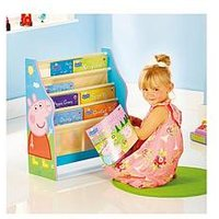 Product photograph showing Peppa Pig Kids Sling Bookcase