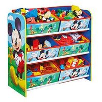 Mickey Mouse Mickey Mouse 6 Bin Storage Unit by Hello Home, One Colour