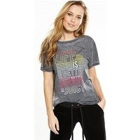 Juicy by Juicy Couture Juicy By Juicy Couture Life Is Better With Juicy Graphic Tee, Pitch Black, Size Xl, Women