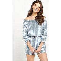 Replay Stripe Playsuit, Multi, Size S, Women