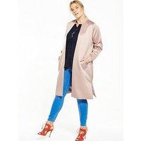 LOST INK CURVE Satin Bomber Jacket - Pink, Pink, Size 14, Women