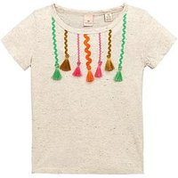 Scotch R'Belle SS TAPED TEE, White, Size Age: 12 Years, Women
