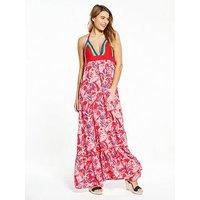 Hilfiger Denim Crochet Maxi Dress, Felicity Print, Size 8=Xs, Women