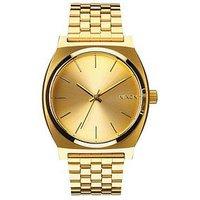 NIXON Time Teller Gold Tone Dial Gold Tone Bracelet Watch, One Colour, Men