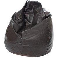 Kaikoo Faux Leather Teardrop Bean Bag - 6 Cubic Feet