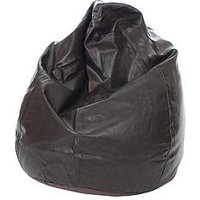 Product photograph showing Kaikoo Faux Leather Teardrop Bean Bag - 6 Cubic Feet
