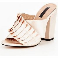 Lost Ink Maxine Pleated Detail Mule, Blush, Size 8, Women
