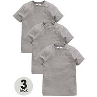 Boys, V by Very 3 Pack School Sport Tees, Grey, Size Age: 9-10 Years